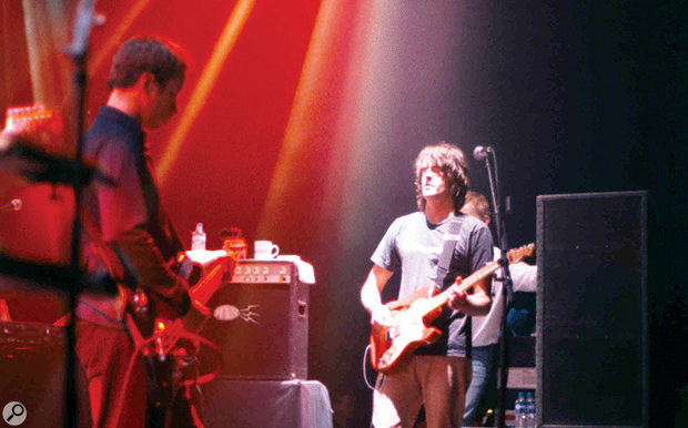 Spiritualized live on stage in Los Angeles.