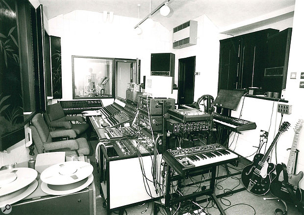 The control room of what would go on to become The Church Studio.