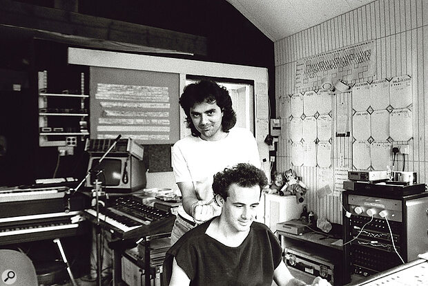 Daniel Lanois and Kevin Killen in the Ashcombe House control room.