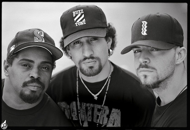 Cypress Hill. From left to right: Sen Dog, B‑Real and DJ Muggs