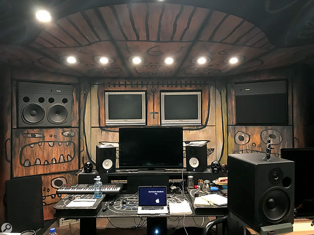DJ Muggs' studio is now centred around a Mac running Logic Pro, but the SP‑1200s are still brought out if things get too clean.