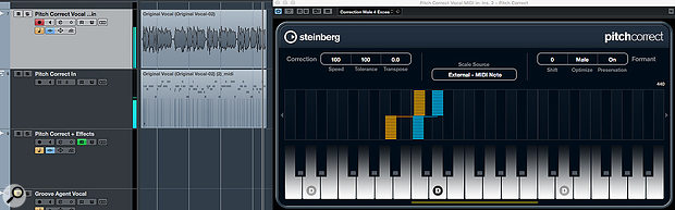 Pitch Correct's target notes for pitch correction can be set by an external MIDI source.