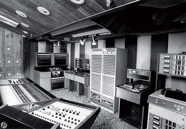 Another view of the Record Plant's Studio A. In the background you can see the studio's Ampex MM1000, 440 and ATR124 tape machines.