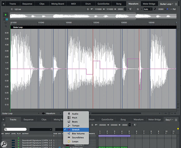 Audio time-stretching sees considerable improvements in this 10.1 release.