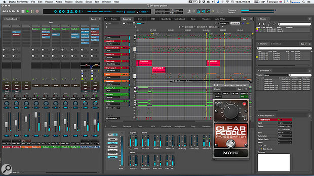 A typical view of DP in action, with a  well-stocked Consolidated Window. The on-trend dark grey look is the default appearance for DP9.