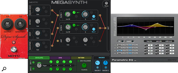 Screen 2: Combining MegaSynth with other DP plug‑ins can produce a convincing synth bass effect.