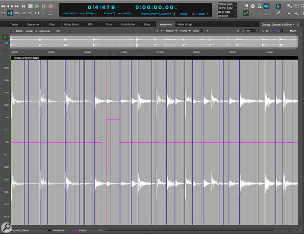 The Audio Stretch Edit Layer lets you adjust individual beats.