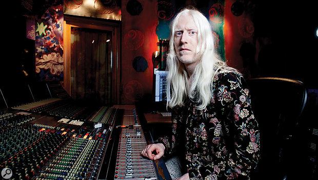 David Wrench in his favoured Strongroom Studio 1.