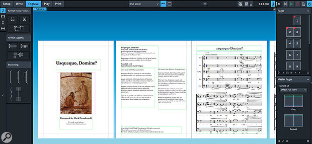 Dorico's frame-based editing makes preparing scores for engraving easier.