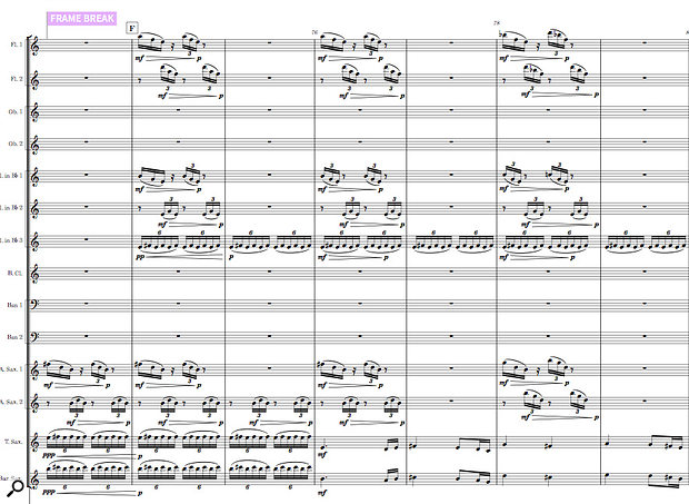 An excerpt from my score 'Cities Of Light', in its original version...
