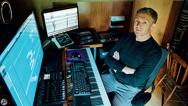 Like many of today's media composers, Dom works mostly from his home studio, running a huge selection of virtual instruments in Steinberg's Cubase.