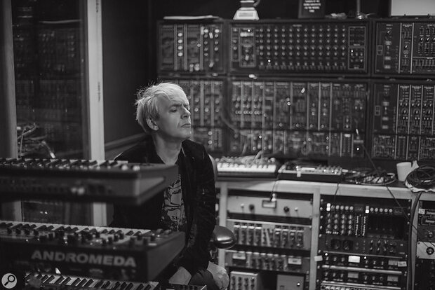 Nick Rhodes with the Roland System 700 behind him.