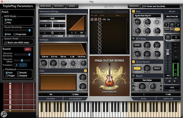 EastWest MIDI Guitar Instrument Series