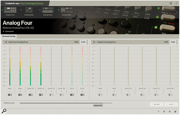 Overbridge allows control and recall of Elektron device settings and audio streaming into your DAW.