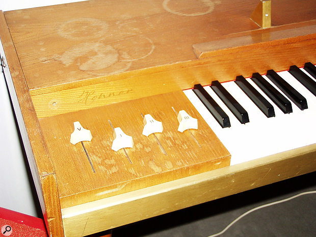 The first prototype of the instrument that would become the Clavinet was named he Claviphon. Both visually and mechanically it was more similar to traditional clavichords.