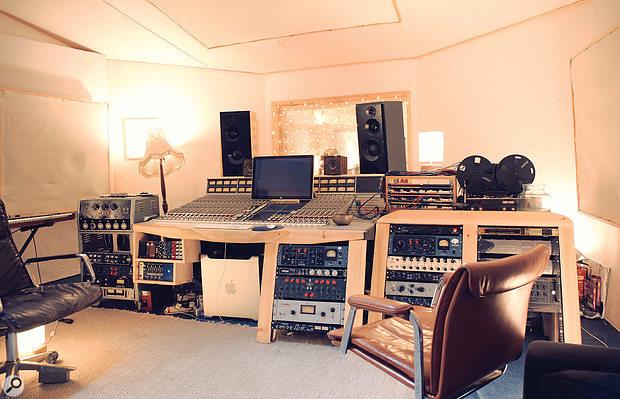 The control room at 123 Studios.