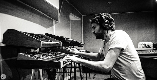 Heading to Studio La Marquise in Paris allowed the band to explore Vincent Taurelle's synth collection.