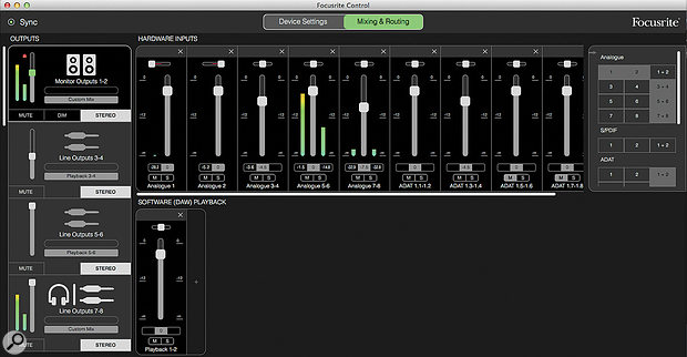 The new Focusrite Control is an exemplary piece of user-interface design.
