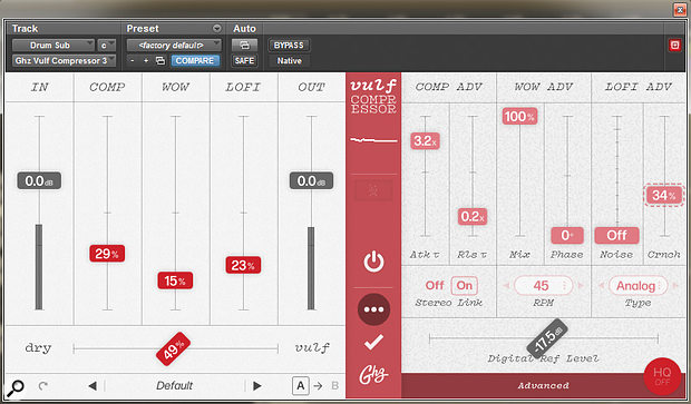 The result of acollaboration with Jack Stratton from the band Vulfpeck, Vulf Compressor is not subtle...