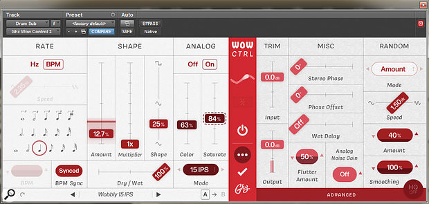 Goodhertz Wow Ctrl plug-in.
