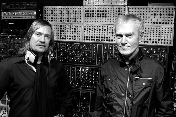 John's most recent albums have been credited to John Foxx and the Maths, aduo comprising John and synth wizard Benge (left).
