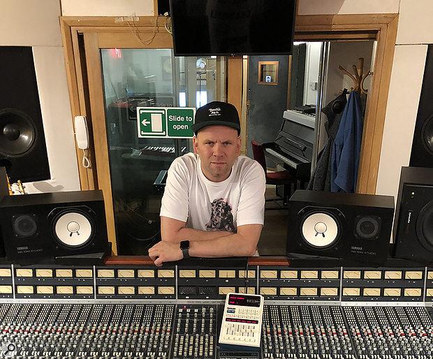 Producer Mark Ralph in his studio.