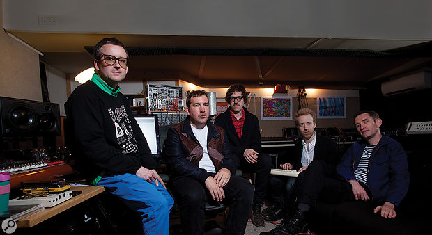 Hot Chip: from left, Alexis Taylor, Joe Goddard, Felix Martin, Al Doyle and Owen Clarke.
