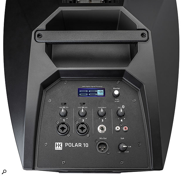 The mixer section, while fairly basic, still allows you to combine two mic/line sources, an instrument-level signal, an unbalanced aux source plus Bluetooth playback.