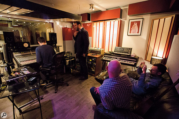 The control room at Half–Ton Studios in its present state.