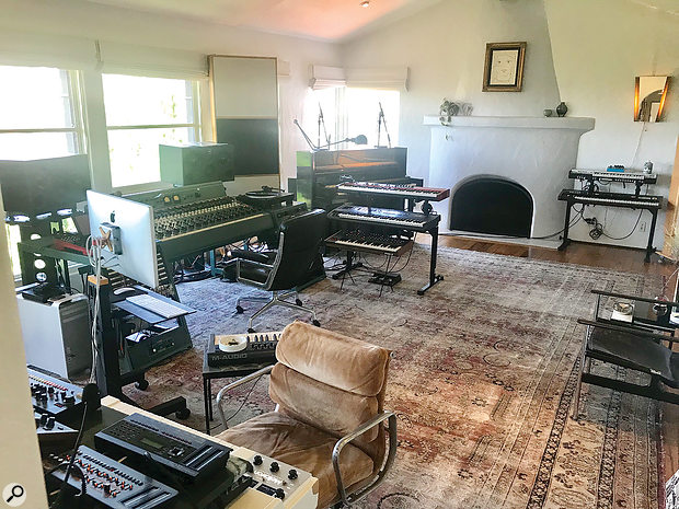 The initial recording sessions for High As Hope were divided between 123 in London and Emile Haynie's spacious LA studio, shown here.