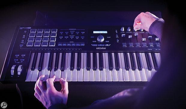 Arturia KeyLab MkII controller keyboard.