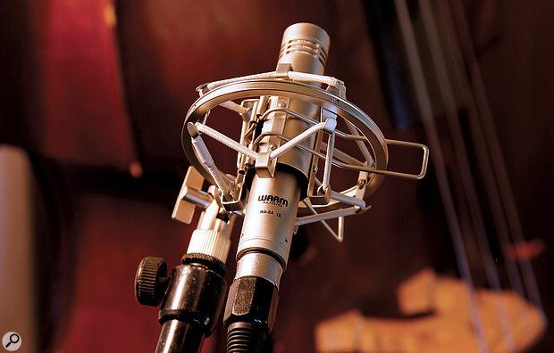 Warm Audio WA-84 microphone.
