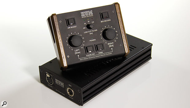 The RS-2 comes with its own power supply and a remote control for the mic's internal preamp, high-pass filter and M-S decoder.