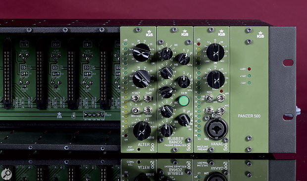 The front panels of the three modules manage to cram an awful lot in without things getting too fiddly, with lots of controls on the EQ and 20-LED meters on both the preamp and the compressor.