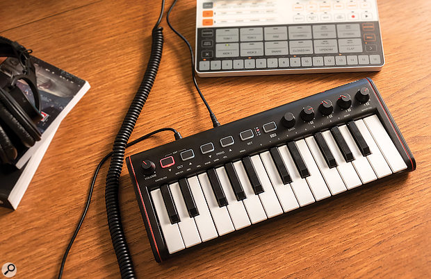 IK Multimedia iRig Keys 2 Mini keyboard controller.