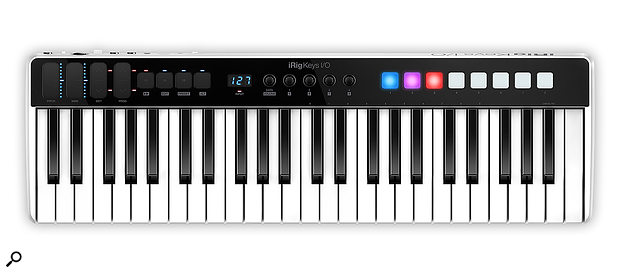Despite measuring just 693 x 208 mm, the iRig Keys I/O somehow manages to squeeze in a full-size 49-note keyboard.