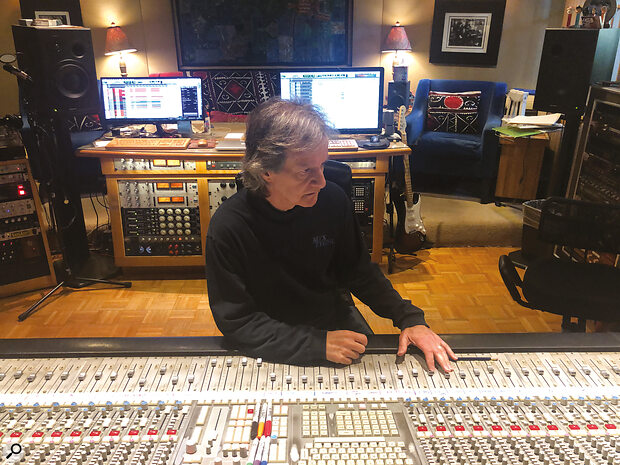Bob Clearmountain in the control room at his Mix This! studio.