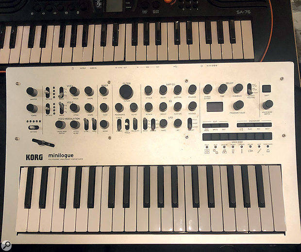 The main piano-like synth part came from Kersting's Korg Minilogue.