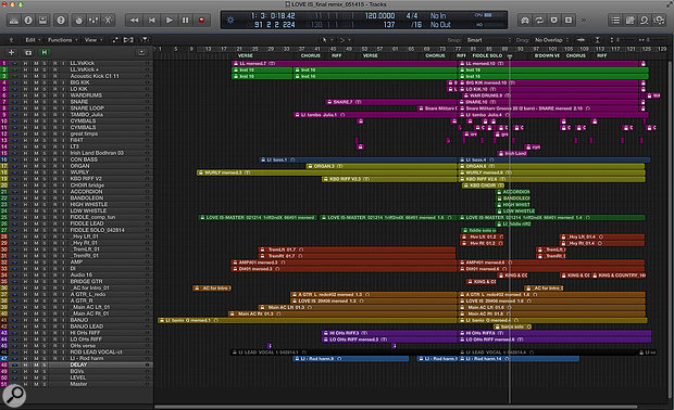 The full Logic project for 'Love Is'.