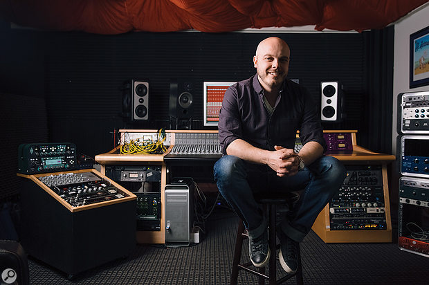 Justin Cortelyou at Bob Ezrin's Anarchy Studios in Nashville.