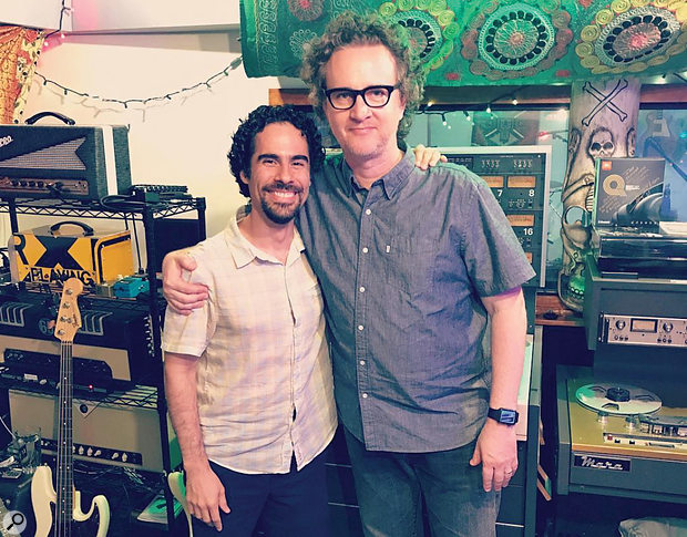 Also heavily involved in the musical side of the production was Alex Lacamoire (left), with Greg Wells in this photo from Rocket Carousel.