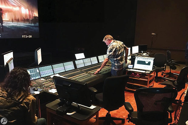 Paul Massey conducted the final film mixes at the Fox Scoring Stage, blending Wells' stems with dialogue and effects.