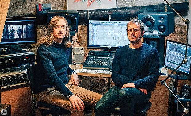 Henri d'Armancourt (left) and Guillaume de la Villéon at d'Armancourt's Velvet Underground Studio in Paris.