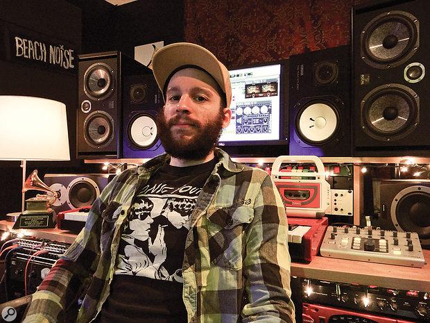 Matt Schaeffer in his LA home studio.