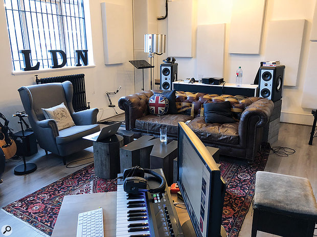 'Someone You Loved' was written and recorded in TMS's former studio at Grand Prix House. The main area was deliberately intended to create aliving-room environment.