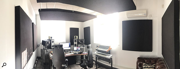 The Grand Prix House studio had aseparate mix room, where 'Someone You Loved' was mixed.