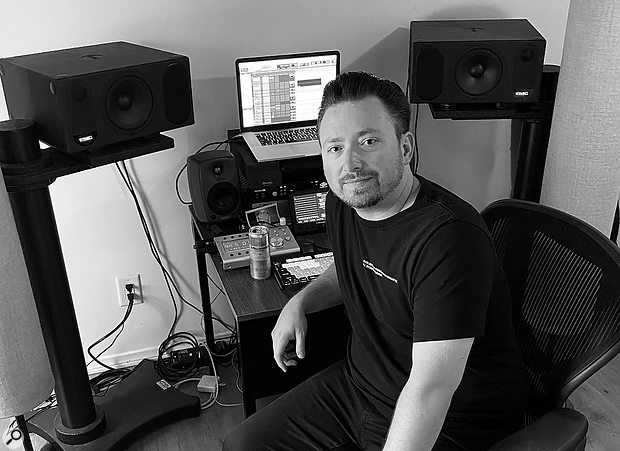 Clint Gibbs now mostly works from his home studio, which is based around a MacBook Pro running Pro Tools, a UA Apollo 8p interface, a Grace Design monitor controller, a PreSonus FaderPort for vocal automation, and PMC, Genelec and Beats speakers for monitoring.