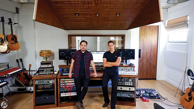 Dean Reid (left) and Kieron Menzies at Rick Nowels' The Green Building studio, where most of the production on Lust For Life was done.