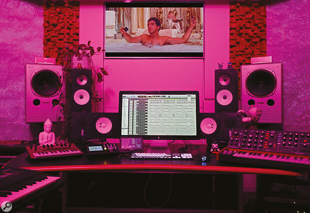 Monitoring options at Jackson's home studio include NS10s, Amphion One18s with matching BaseTwo25 subwoofers, and a?pair of Tannoy DMT II dual?concentric speakers.