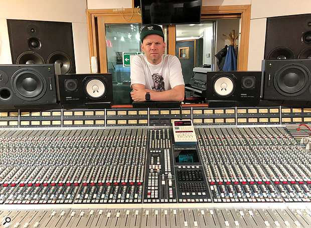 Mark Ralph with the SSL console that forms the centrepiece of his Club Ralph studio.